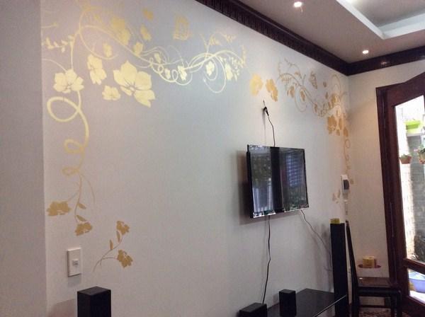 Sơn tường hoa văn