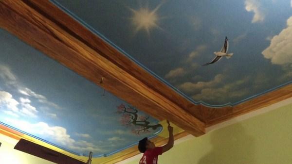 Cách sơn vân mây